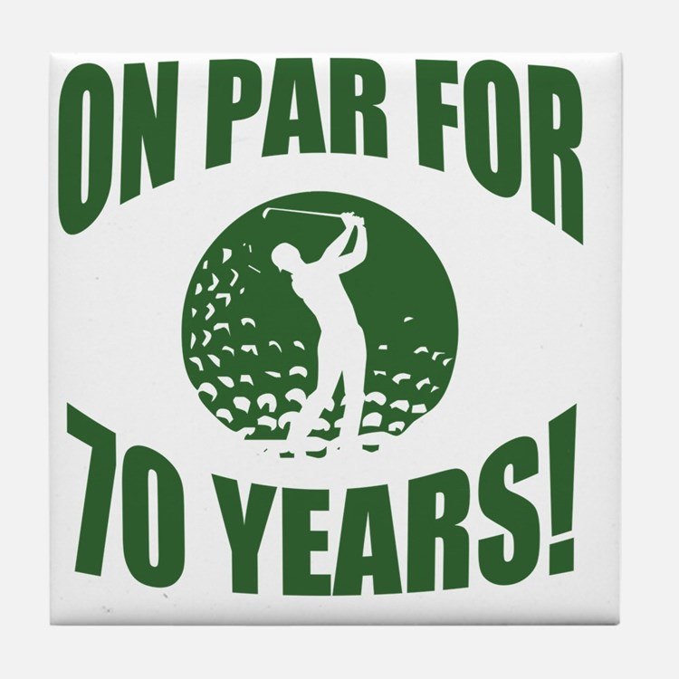 Golfer's 70th Birthday Tile Coaster