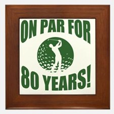 Golfer's 80th Birthday Framed Tile