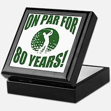Golfer's 80th Birthday Keepsake Box