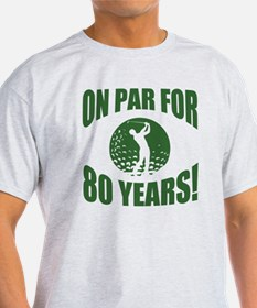 Golfer's 80th Birthday T-Shirt
