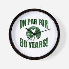 Golfer's 80th Birthday Wall Clock