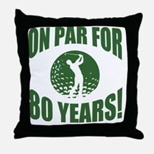 Golfer's 80th Birthday Throw Pillow
