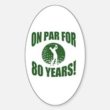 Golfer's 80th Birthday Decal