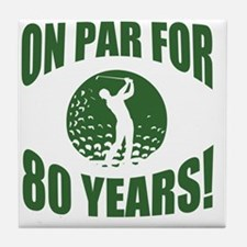 Golfer's 80th Birthday Tile Coaster