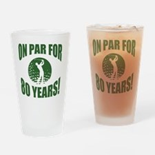 Golfer's 80th Birthday Drinking Glass