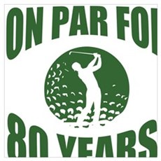 Golfer's 80th Birthday Poster