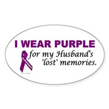 My Husband's Lost Memories Oval Decal
