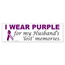 My Husband's Lost Memories Bumper Bumper Sticker
