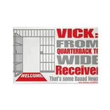 Wide Receiver Rectangle Magnet