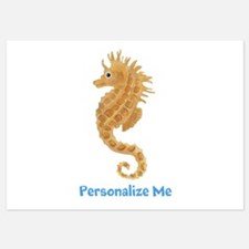 Personalized Seahorse 5x7 Flat Cards