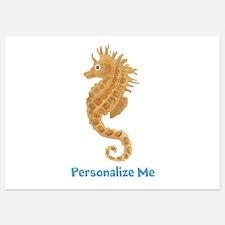 Personalized Seahorse Invitations