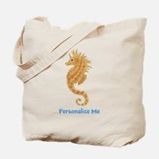 Personalized Seahorse Tote Bag
