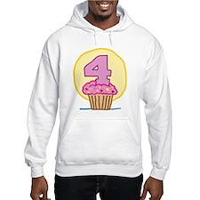 4th Birthday Cupcake Hoodie