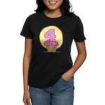 4th Birthday Cupcake Women's Dark T-Shirt