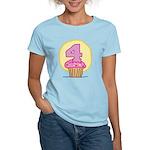 4th Birthday Cupcake Women's Light T-Shirt