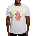 4th Birthday Cupcake Light T-Shirt