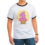 4th Birthday Cupcake Ringer T