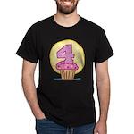 4th Birthday Cupcake Dark T-Shirt