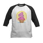 4th Birthday Cupcake Kids Baseball Jersey