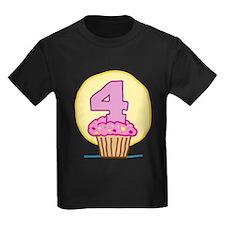 4th Birthday Cupcake T