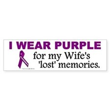 My Wife's Lost Memories Bumper Bumper Sticker