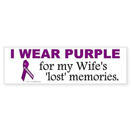 My Wife's Lost Memories Bumper Sticker