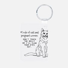 Cats and Pregnant Women Keychains