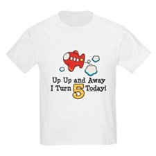 5th Birthday Airplane T-Shirt