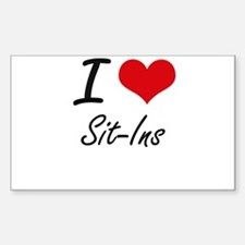 I Love Sit-Ins Decal