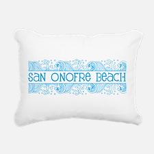 San Onofre Beach, San Di Rectangular Canvas Pillow