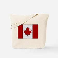 Canadian Flag Vintage Tote Bag