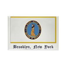 Brooklyn NY Flag Rectangle Magnet