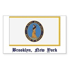 Brooklyn NY Flag Rectangle Decal