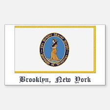 Brooklyn NY Flag Rectangle Decal