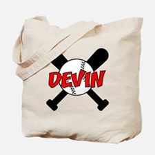 Devin Baseball Tote Bag