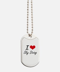 I love Sky Diving Dog Tags