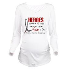 Funny Heroes Long Sleeve Maternity T-Shirt