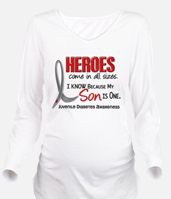 Funny Heros come in all sizes diabetic Long Sleeve Maternity T-Shirt