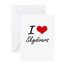 I love Skydivers Greeting Cards