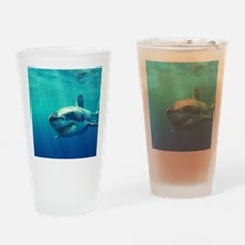 GREAT WHITE SHARK 1 Drinking Glass