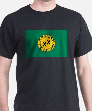Cute State of jefferson flag T-Shirt