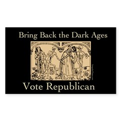 Bring Back the Dark Ages Bumper Decal