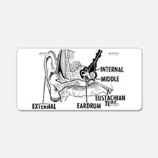 Ear Diagram Aluminum License Plate