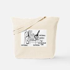 Ear Diagram Tote Bag