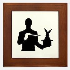 Magician top rabbit Framed Tile