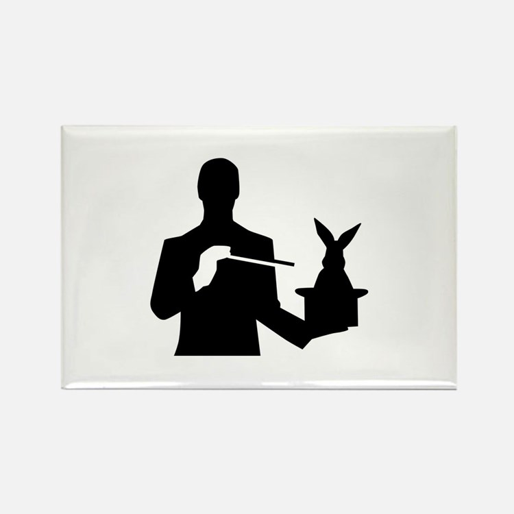 Magician top rabbit Rectangle Magnet