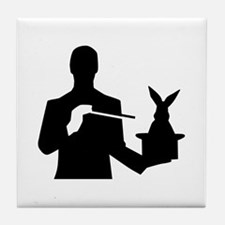 Magician top rabbit Tile Coaster