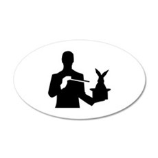 Magician top rabbit 35x21 Oval Wall Decal
