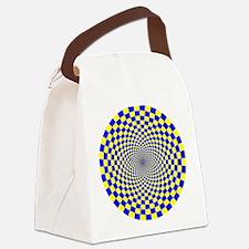 Optical Illusion Fractals Canvas Lunch Bag