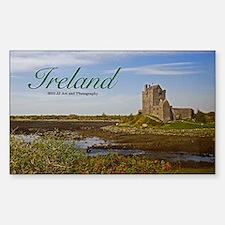 Ireland Country Castle Sticker (rectangle)